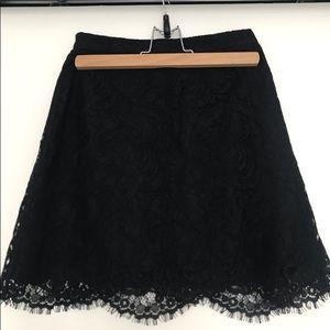 Aritzia lace mini skirt